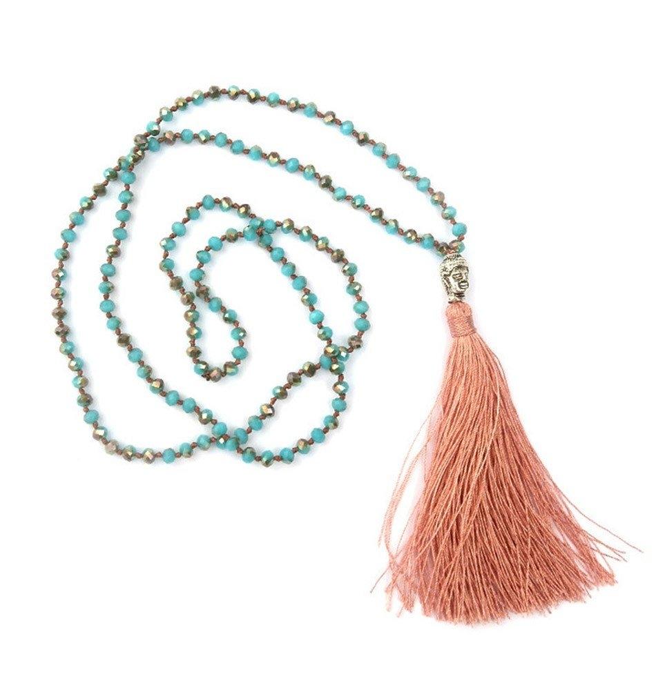 Boho Buddha Necklace-Turquoise