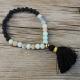 Boho Bracelet Wrist Mala Amazonite