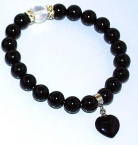Wrist Mala Onyx-Heart Bracelet