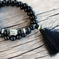 onyx stack bracelet