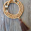 Cedar Mala Prayer Beads