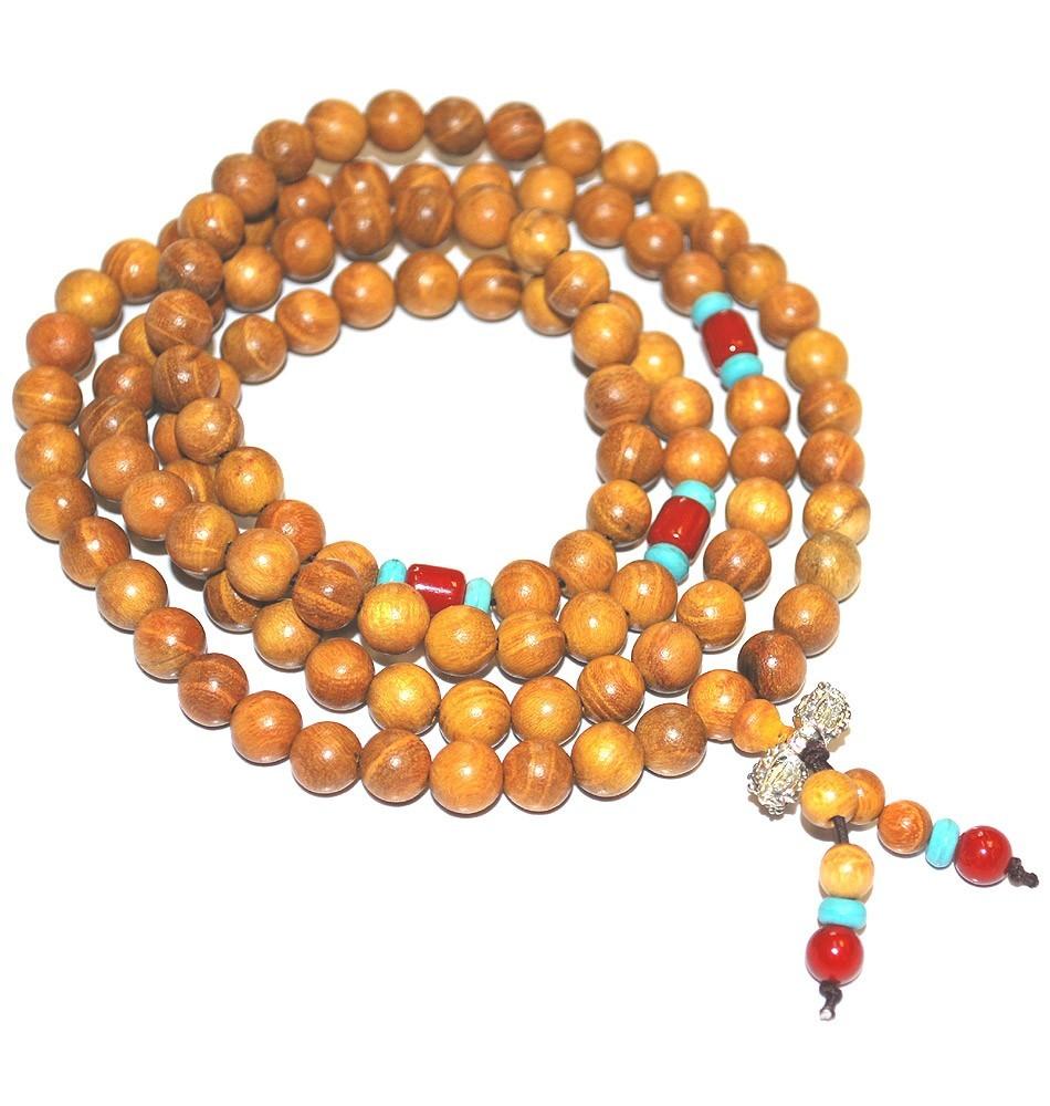 8mm Cedar Mala Beads