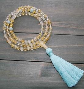 citrine jade prayer beads