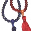 custom designed purple and red mala