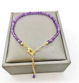 faceted amethyst gold filled