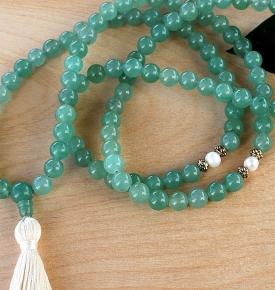 Aventurine & Pearl Prayer Beads