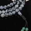 Snowflake Obsidian Mala