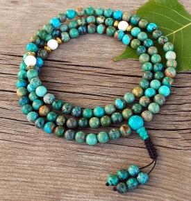 genuine turquoise mala