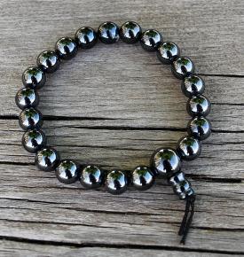 hematite mala bracelet