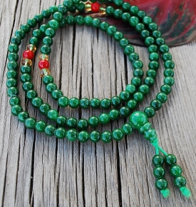 Mini Mala Jade Color