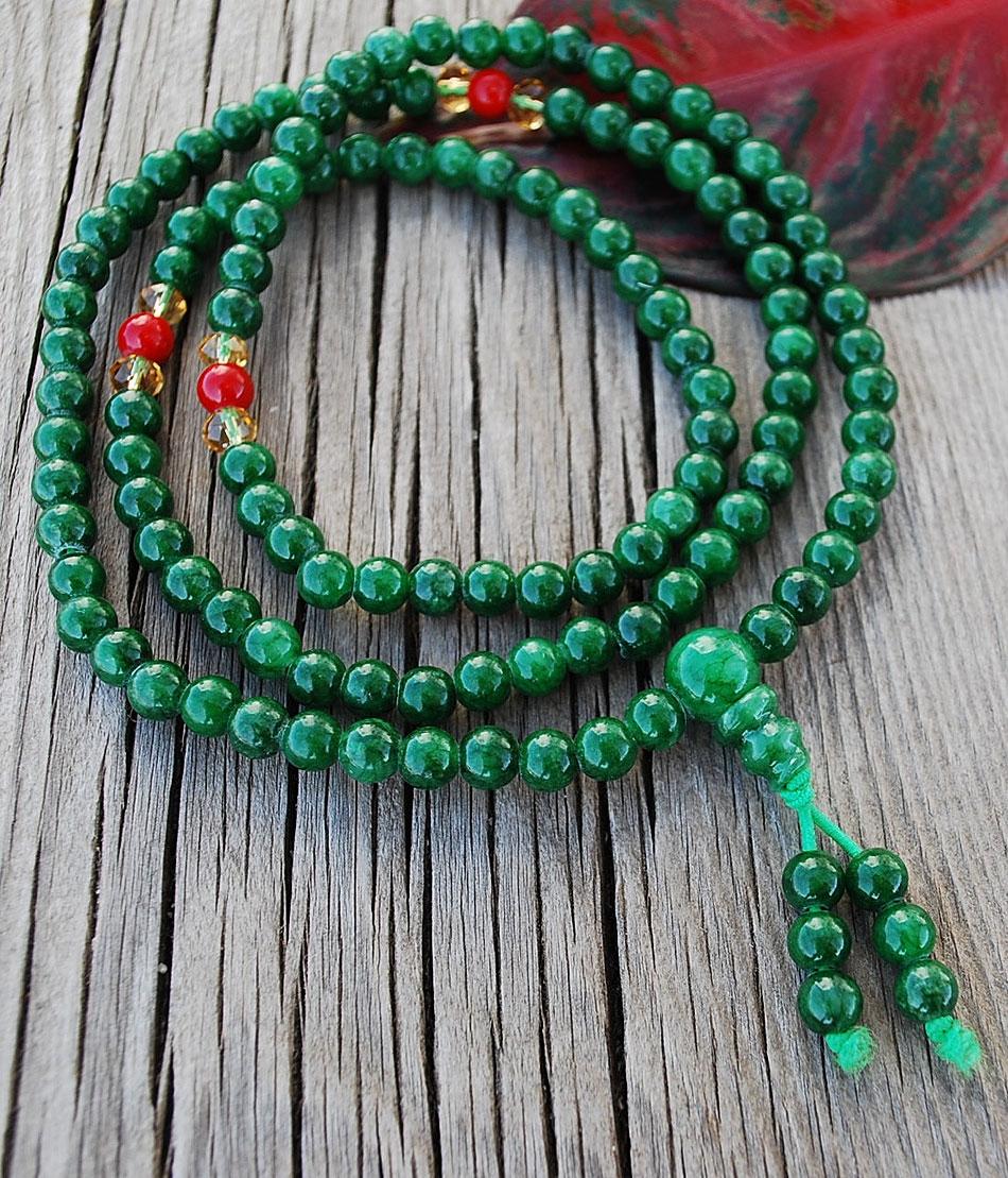 Mini Mala Jade Color