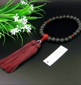 Japanese Hand Mala Ebony 8mm