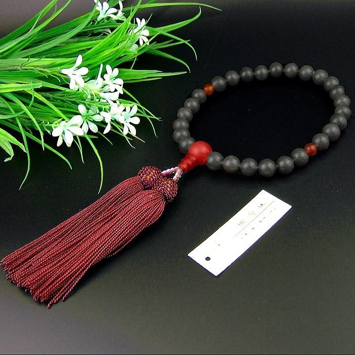 Japanese Hand Mala Ebony 8mm