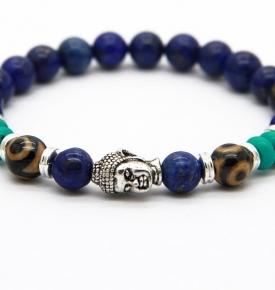 lapis buddha bracelet dzi