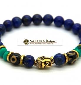 Bracelet Mala- Lapis Buddha