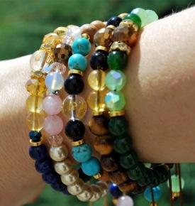 Zodiac Birthstone Mala Bracelets