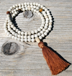 8mm Lotus Seed Mala Prayer Beads