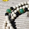 Lotus Jade & Gold Tibetan Mala