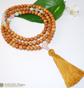 Mala Beads-Amazonite & Rose Quartz