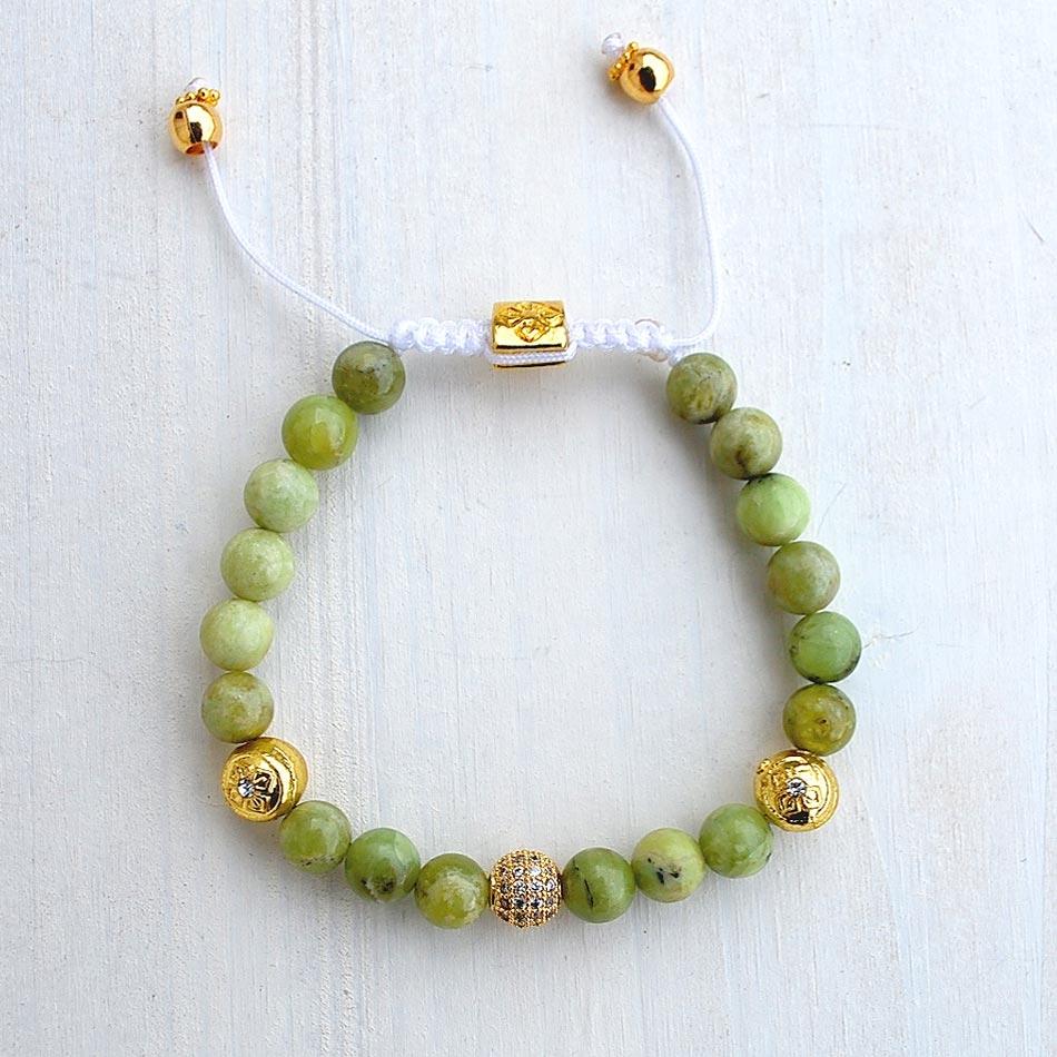 Olive Jade Dorje Bracelet