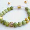 olive jade shamballa bracelet