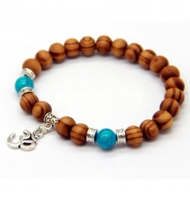 Om Bracelet with Turquoise & Silver