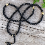 Black Onyx & Gold Mala