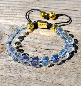Wrist Mala Faceted Opalite Crystal