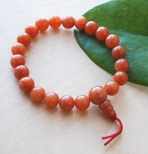 Wrist Mala Orange Aventurine