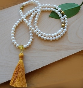 Pearl Mala Prayer Beads