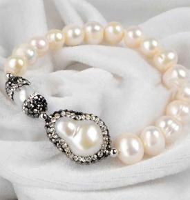 pearl marcasite bracelet