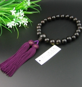 Prostration Mala Ebony 13mm