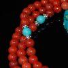Red Jasper & Turquoise Mala