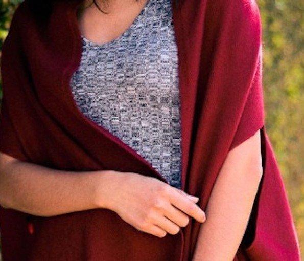 red shawl meditation