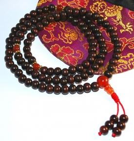 Red Sandalwood Tibetan Mala
