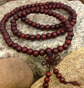 Red Wooden Mala Prayer Beads