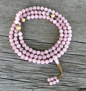 rose quartz malas