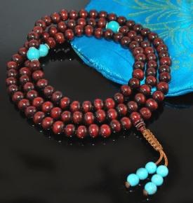 Rosewood & Turquoise Mala