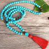snow lion mala beads