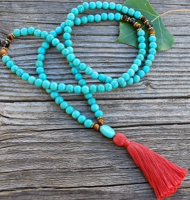 Snow Lion Mala Necklace