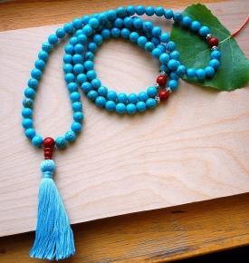 Tibetan Turquoise Mala Beads