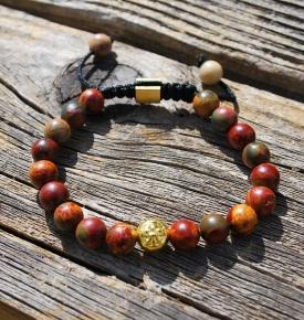 Tibetan Healing Bracelet-Rainbow Jasper