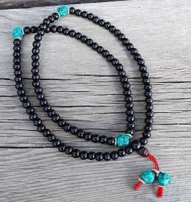 rosewood turquoise mala