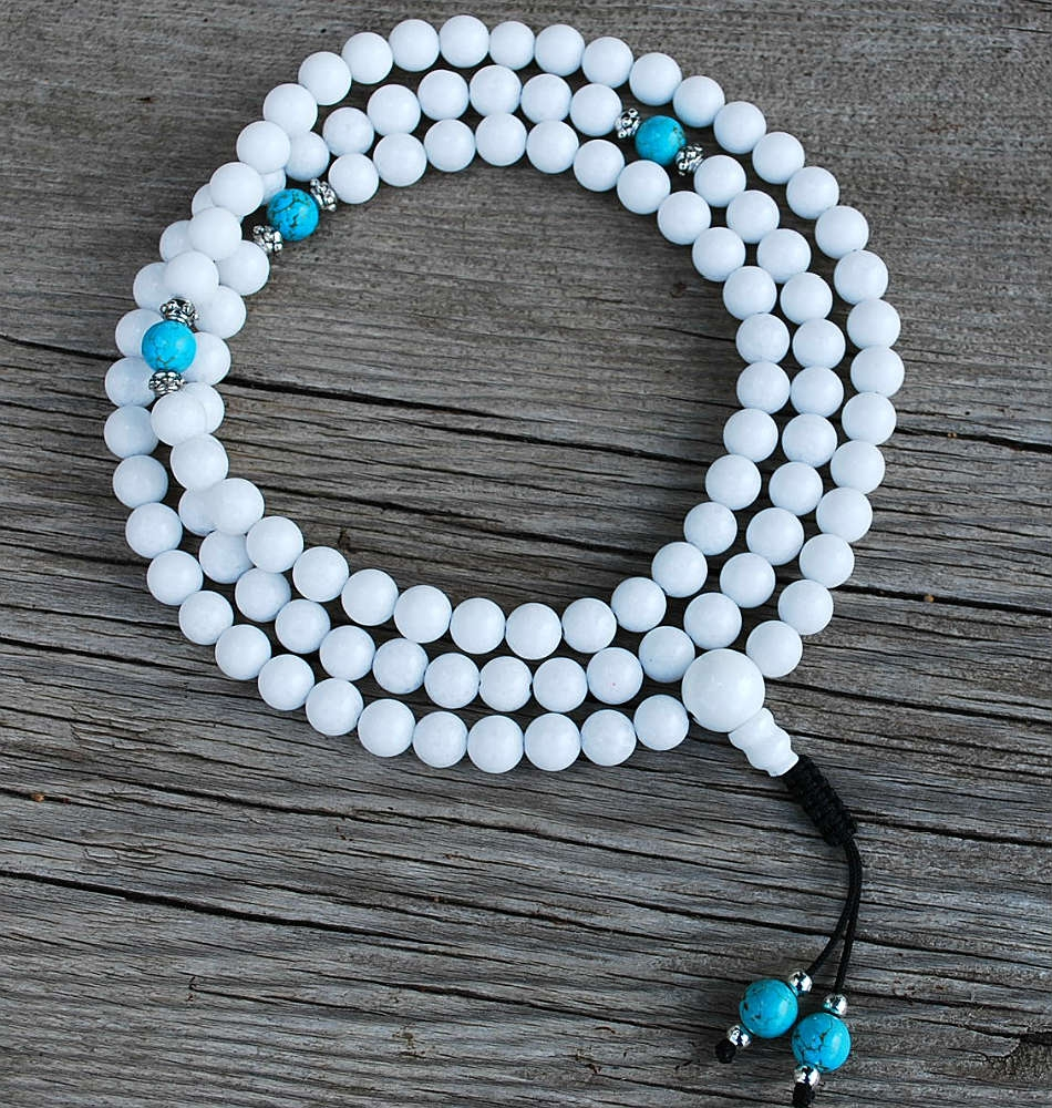 white jade mala