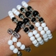 Mini Mala- White Jade Necklace