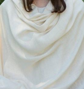 white pashmina