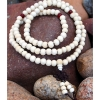 8mm White Wood Mala