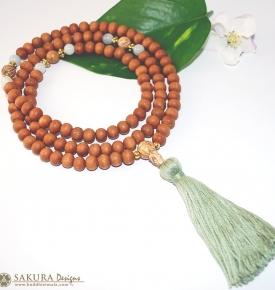 Japa Mala- Wood & Jade