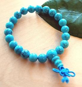 Wrist Mala- Turquoise Howlite