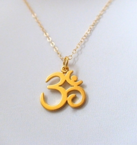 Om Pendant- Gold over Sterling